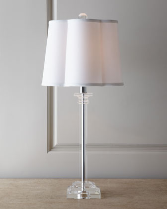 SCALLOP SHADE LAMP
