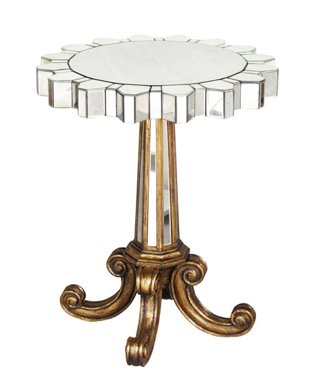 Coronado Fluted Mirror Side Table