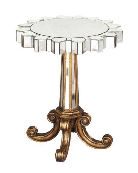 Coronado Fluted Mirror Side Table