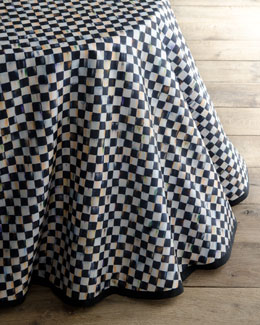 "MacKenzie-Childs ""Courtly Check"" Round Table Skirt"
