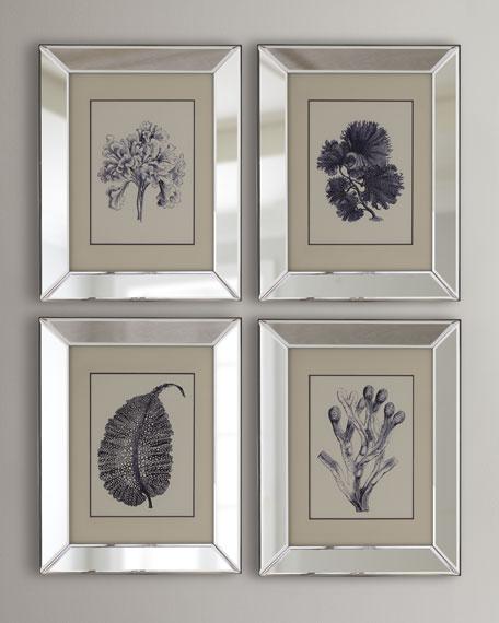 """4-Piece """"Blue Coral"""" Print Set"""