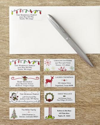SIX B LABELS CORP Holiday Address Labels