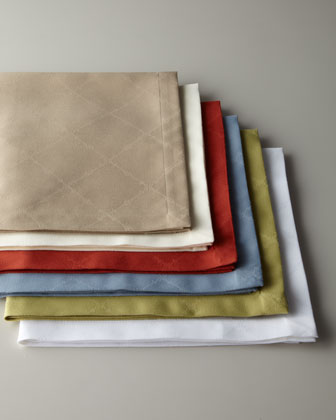 Four Lattice Dinner Napkins