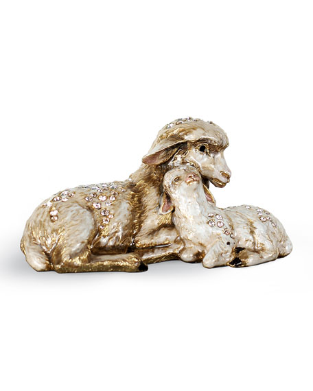 Jay Strongwater Sheep and Lamb Figurine