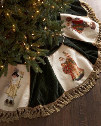 Old World Santas Christmas Tree Skirt