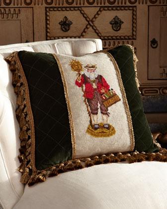 German Santa Pillow