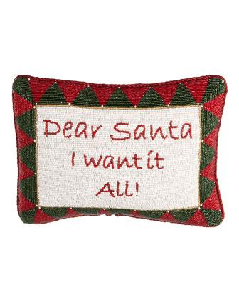 Hand-Beaded Christmas Pillows