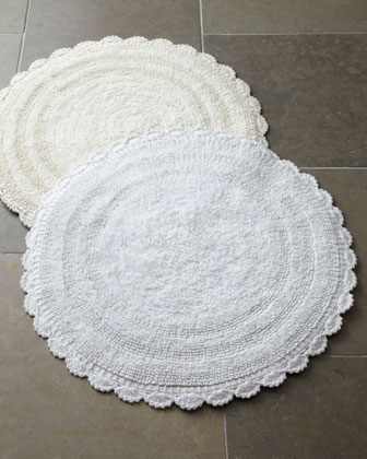 Crochet Border Bath Rugs