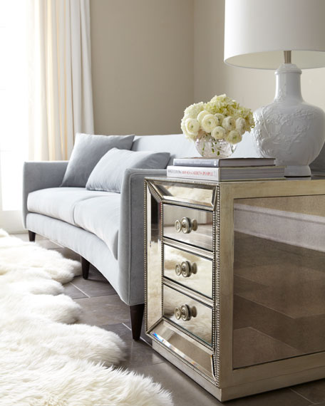 Shilo Mirrored Side Table