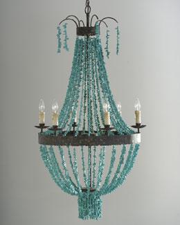Regina-Andrew Design Turquoise Beads Chandelier