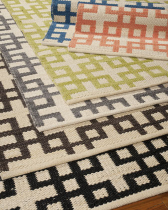 Barclay Butera Lifestyle Block Squares Flatweave Rug