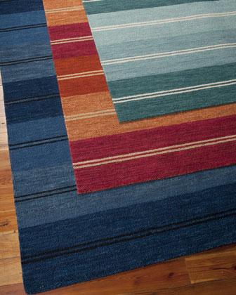 Villa Stripes Flatweave Rug, 3'6
