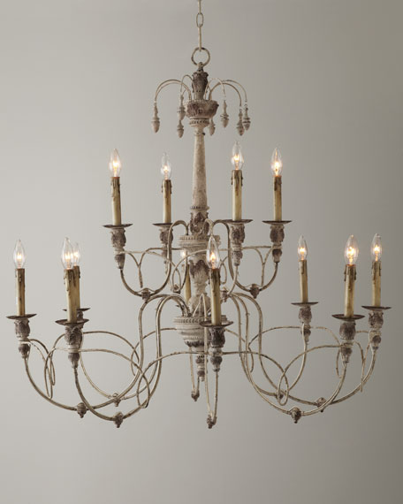 Salento 12-Light White Two-Tier Chandelier
