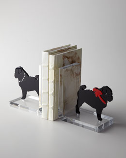 """Pug"" Bookends"