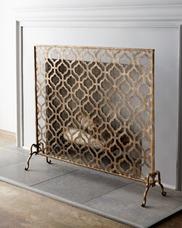 """Lexington"" Single-Panel Fireplace Screen"