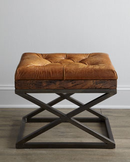 """Warona"" Leather Bench"