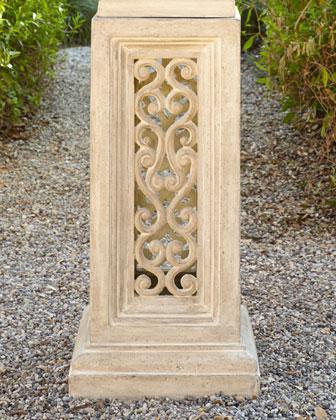 Stonecast Urn & Pierced Pedestal