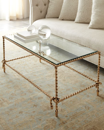 glass coffee table with gold legs 1