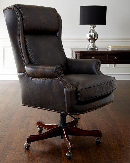 hooker furniture mason leather desk chair neiman marcus