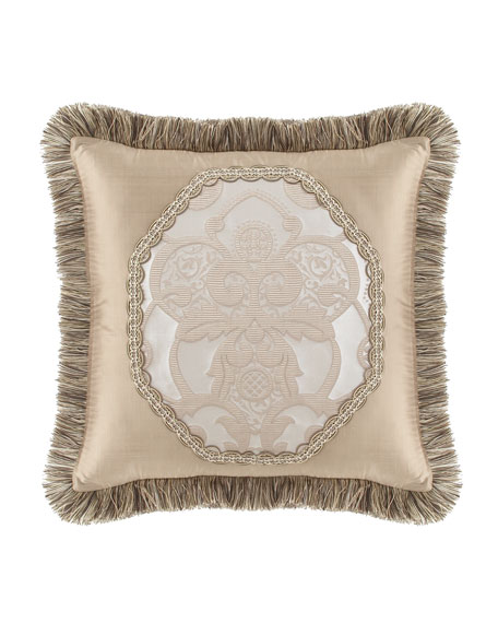 Dian Austin Couture Home Pure Pewter Pieced Pillow