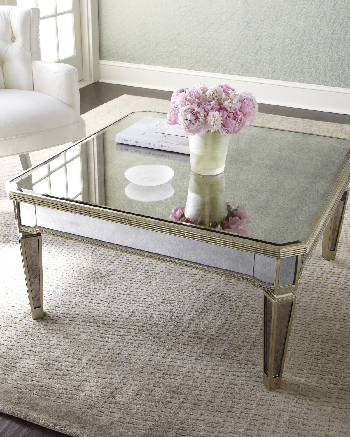 pier 1 coffee table Amelie Mirrored Coffee Table | Neiman Marcus pier 1 coffee table