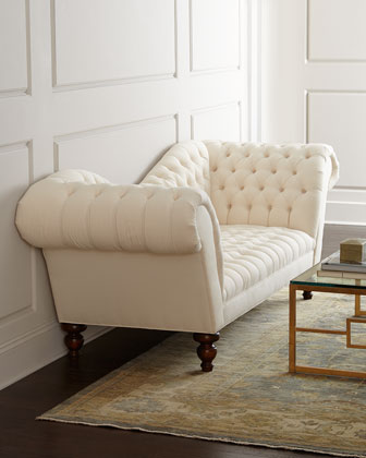 Ellsworth Neutral Recamier Sofa
