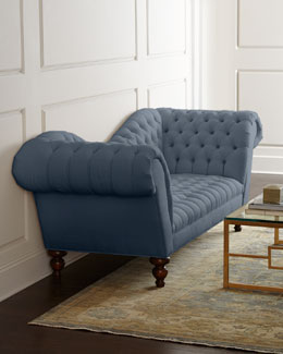 "Old Hickory Tannery ""Ellsworth"" Recamier Sofa"