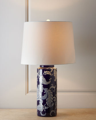 Blue Paisley Lamp