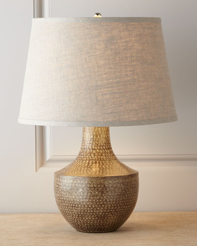 "Jamie Young ""Kettle"" Hammered Metal Lamp"