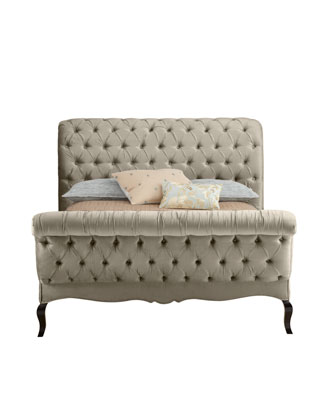 Champagne Tufted Bed
