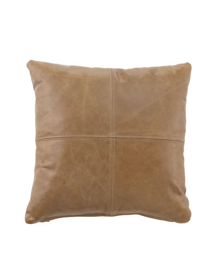 Tan Leather Pillow