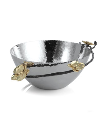 Gold Orchid Bowl & Servers
