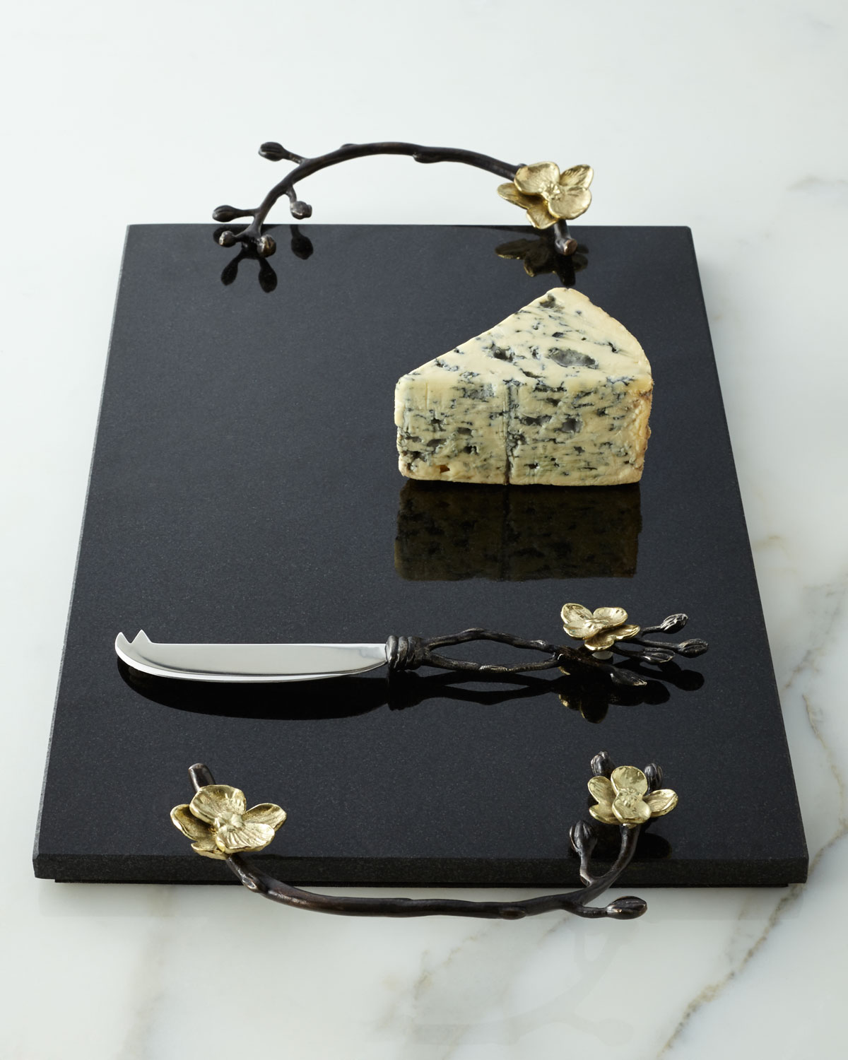 49484a617f82 Michael Aram Gold Orchid Cheese Board   Knife
