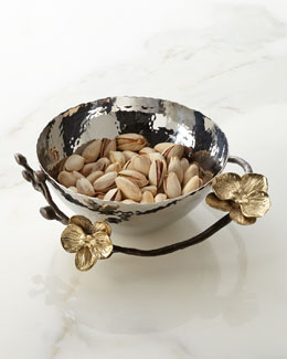 Michael Aram Gold Orchid Nut Bowl