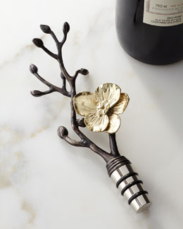 "Michael Aram ""Gold Orchid"" Wine Stopper"