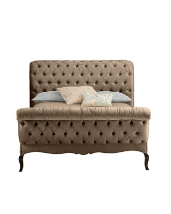 Taupe Tufted Bed