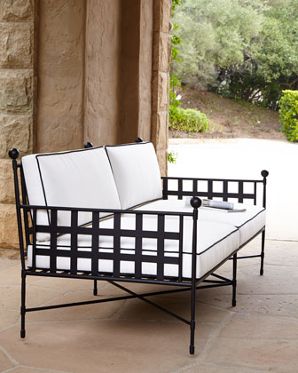 Avery Neoclassical Outdoor Sofa