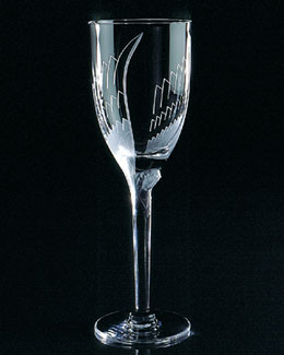 "Lalique Two ""Angels"" Flutes"