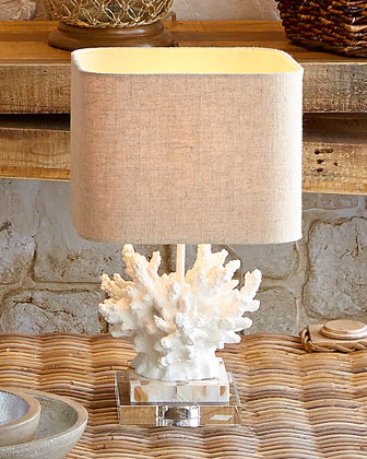 White Coral Lamp 17 IN