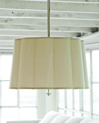 Scalloped-Shade Three-Light Pendant