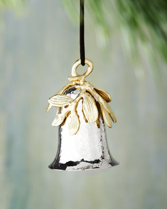 Mistletoe Bell Christmas Ornament