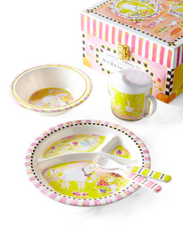"MacKenzie-Childs ""Lamb"" Toddler Dinnerware Set"