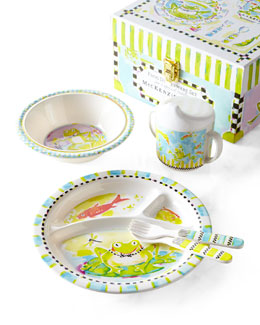 MacKenzie-Childs Frog Toddler Dinnerware Set