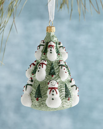 Snowman Tree Christmas Ornament