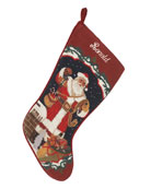 Needlepoint Christmas Stocking, Personalized