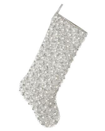 Silver Bead Christmas Stockings