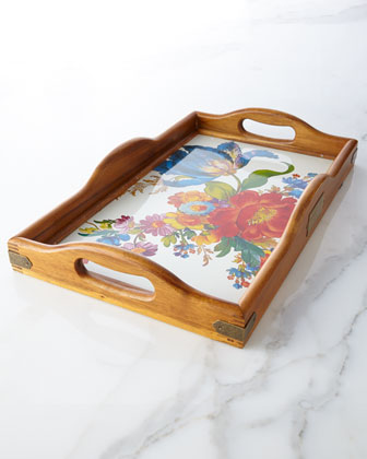 Large Flower Market Hostess Tray