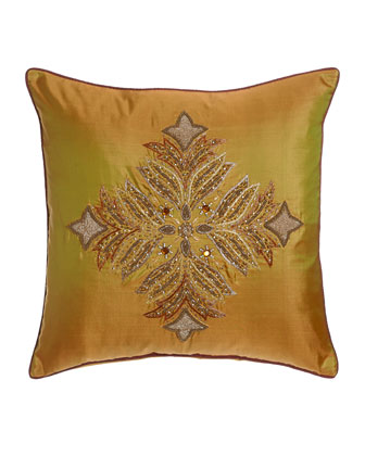 Delia Collection Silk Pillow