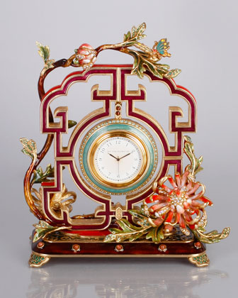 Horse Figurine, Clock, & Pagoda Box