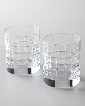 Two London Double Old-Fashioned Glasses